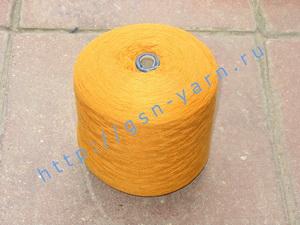 Пряжа 26/2 на бобинах для ручного и машинного вязания, ткачества. 45% Натуральный шелк (mulberry silk), 40% хлопок, 15% беби альпака (baby alpaca). Цвет рыжий