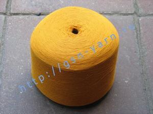 Пряжа 26/2 на бобинах для ручного и машинного вязания, ткачества. 40% Натуральный шелк (mulberry silk), 35% хлопок, 20% ангора (dehaired angora), 5% кид мохер (kid mohair). Цвет ярко-желтый, рыжий