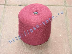 Пряжа 26/2 на бобинах для ручного и машинного вязания, ткачества. Узелковая пряжа, пряжа с включениями (NEPS yarn). 55% Хлопок, 20% шерсть (soft wool), 15% беби альпака (baby alpaca), 10% натуральный шелк (mulberry silk). Цвет ярко-бордовый + разноцветные