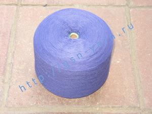 Пряжа 26/2 на бобинах для ручного и машинного вязания, ткачества. 30% Натуральный шелк (mulberry silk), 30% хлопок, 25% шерсть (soft wool), 15% беби альпака (baby alpaca). Цвет сине-фиолетовый