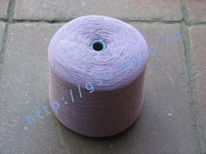 Пряжа 26/2 на бобинах для ручного и машинного вязания, ткачества. 30% Натуральный шелк (mulberry silk), 30% хлопок, 25% шерсть (soft wool), 15% беби альпака (baby alpaca). Цвет светло-фиолетовый