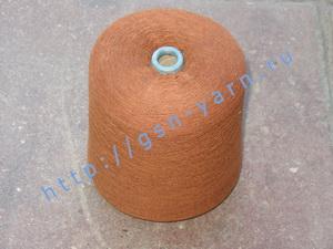 Пряжа 26/1 на бобинах для ручного и машинного вязания, ткачества. Узелковая пряжа, пряжа с включениями (NEPS yarn). 40% Хлопок, 35% шерсть (soft wool), 20% беби альпака (baby alpaca), 5% натуральный шелк (mulberry silk). Цвет коричневый + разноцветные вкр