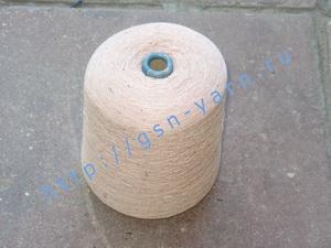 Пряжа 26/2 на бобинах для ручного и машинного вязания, ткачества. Узелковая пряжа, пряжа с включениями (NEPS yarn). 50% Хлопок, 30% натуральный шелк (mulberry silk), 16% шерсть (soft wool), 4% кашемир. Цвет нежно-розовый + разноцветные вкрапления