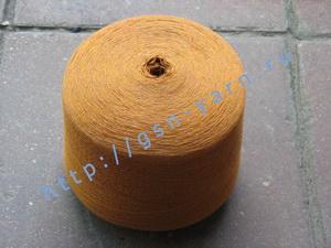 Пряжа 26/2 на бобинах для ручного и машинного вязания, ткачества. Узелковая пряжа, пряжа с включениями (NEPS yarn). 60% Бамбук, 25% шерсть (soft wool), 10% натуральный шелк (mulberry silk), 5% кид мохер (kid mohair). Цвет рыжий + разноцветные вкрапления