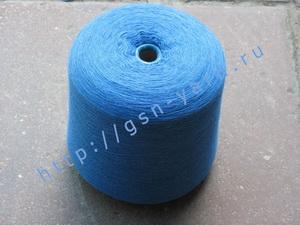 Пряжа 26/1 на бобинах для ручного и машинного вязания, ткачества. Узелковая пряжа, пряжа с включениями (NEPS yarn). 40% Хлопок, 35% шерсть (soft wool), 20% беби альпака (baby alpaca), 5% натуральный шелк (mulberry silk). Цвет ярко-голубой + разноцветные в