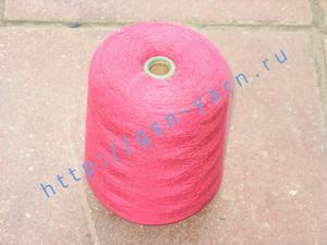 Пряжа 26/2 на бобинах для ручного и машинного вязания, ткачества. Узелковая пряжа, пряжа с включениями (NEPS yarn). 60% Вискоза, 20% шерсть (soft wool), 10% натуральный шелк (mulberry silk), 10% беби альпака (baby alpaca). Цвет ярко-розовый + разноцветные