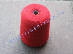 Пряжа 26/2 на бобинах для ручного и машинного вязания, ткачества. 45% Натуральный шелк (mulberry silk), 40% Хлопок, 15% беби альпака (baby alpaca). Цвет красный
