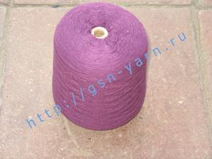 Пряжа 26/2 на бобинах для ручного и машинного вязания, ткачества. Узелковая пряжа, пряжа с включениями (NEPS yarn). 40% Хлопок, 35% шерсть (soft wool), 20% беби альпака (baby alpaca), 5% натуральный шелк (mulberry silk). Цвет фиолетовый + разноцветные вкр