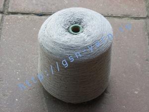Пряжа 26/2 на бобинах для ручного и машинного вязания, ткачества. Узелковая пряжа, пряжа с включениями (NEPS yarn). 60% Хлопок, 25% шерсть (soft wool), 11% натуральный шелк (mulberry silk), 4% кашемир. Цвет серый + черно-белые вкрапления