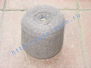 Пряжа 26/2 на бобинах для ручного и машинного вязания, ткачества. Узелковая пряжа, пряжа с включениями (NEPS yarn). 40% Хлопок, 35% шерсть (soft wool), 20% беби альпака (baby alpaca), 5% натуральный шелк (mulberry silk). Цвет серый, серо-бордовый