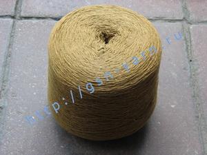 Пряжа 10,2/3 на бобинах для ручного и машинного вязания, ткачества. 60% Хлопок, 40% натуральный шелк (mulberry silk). Цвет ярко-песочный