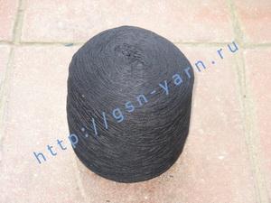 Пряжа 10,2/3 на бобинах для ручного и машинного вязания, ткачества. 60% Хлопок, 40% натуральный шелк (mulberry silk). Цвет сине-черный
