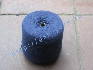 Пряжа 10,2/3 на бобинах для ручного и машинного вязания, ткачества. 60% Хлопок, 40% натуральный шелк (mulberry silk). Цвет ярко-синий