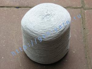 Пряжа 10,2/3 на бобинах для ручного и машинного вязания, ткачества. 60% Хлопок, 40% натуральный шелк (mulberry silk). Цвет бледно-голубой