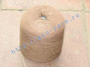 Пряжа 12,6/3 на бобинах для ручного и машинного вязания, ткачества. 60% Хлопок, 40% натуральный шелк (mulberry silk). Цвет коричневый