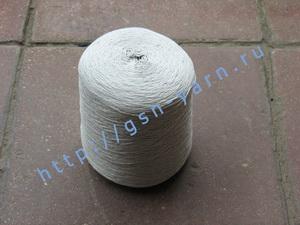 Пряжа 12,6/3 на бобинах для ручного и машинного вязания, ткачества. 60% Хлопок, 40% натуральный шелк (mulberry silk). Цвет бледно-голубой